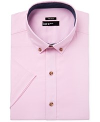 Bar Iii Men's Slim Fit Oxford Short Sleeve Dress Shirt Only At Macy's Pink