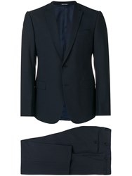 Emporio Armani Two Piece Formal Suit Blue
