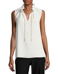 Michael Michael Kors Chain Accented Ruffled Collar Blouse