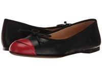 Charlotte Olympia Kiss Me Darcy Black Red Calfskin Women's Slip On Shoes
