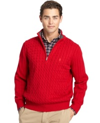 Izod Big And Tall Cable Knit Quarter Zip Sweater Jester Red