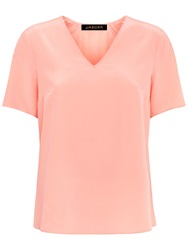 Jaeger Silk Inverted Top Dusty Pink