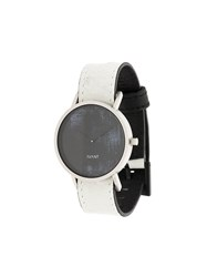 South Lane Avant Diffuse Watch Calf Leather Stainless Steel Glass White