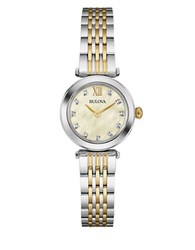 Bulova Diamond Accented Two Tone Stainless Steel Watch 98P154