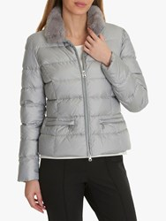 Betty Barclay Quilted Down Jacket Cloud Grey