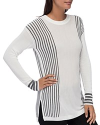 B Collection By Bobeau Cleo Striped Sweater Ivory Heather Gray