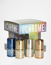 Models Own Chrome Cube X 4 Polishes Set Save 12
