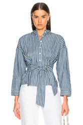Citizens Of Humanity Steffy Tie Top In Blue