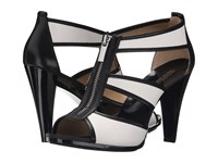 Michael Michael Kors Berkley T Strap Optic White Black Vachetta Women's Dress Sandals