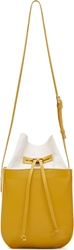 Maiyet Gold Leather And Canvas Sia Bucket Bag