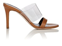 Barneys New York Leather And Pvc Mules Beige Tan