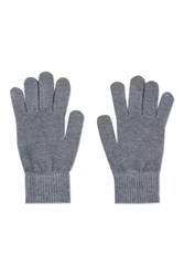 Topshop Touch Screen Knitted Gloves Light Grey