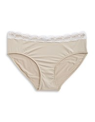 Hanro Lace Trimmed Panties Gold Gray
