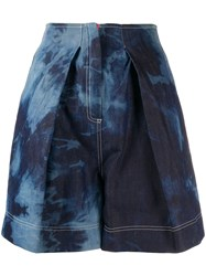 Gina Tie Dye Front Pleated Shorts 60