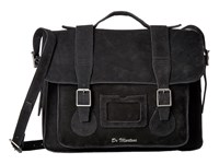 Dr. Martens 15 Leather Satchel Black Suede Satchel Handbags