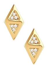 Boy Meets Girl Double Triangle Pave Stud Earrings No Color