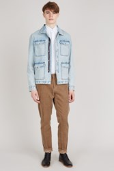 Ami Alexandre Mattiussi Denim Military Jacket Light Blue