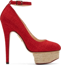 Charlotte Olympia Red Alaskan Cotton Dolores Espadrilles