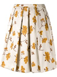 Eggs Floral Print Skirt Women Cotton Polyester Acetate Viscose 44 Nude Neutrals