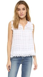 Bb Dakota Stella Crochet Trim Tank White