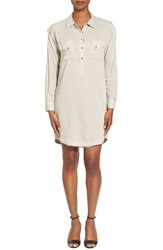 Matty M Utility Shirtdress Stone