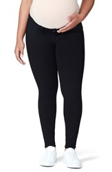 Good American Mama The Honeymoon Low Rise Maternity Skinny Jeans Black