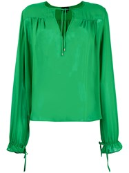Just Cavalli Peasant Blouse Green