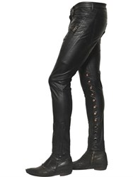 Tom Rebl Faux Leather Pants W Eyelets
