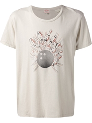 Levi's Vintage Clothing Bowling Print T Shirt Nude And Neutrals