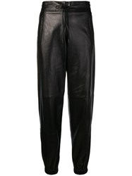Saint Laurent Drawstring Trousers Black