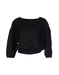 Pinko Grey Topwear Sweatshirts Women Black