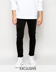 Cheap Monday Tight Jeans Skinny Fit Destroyed Grey Extreme Rips