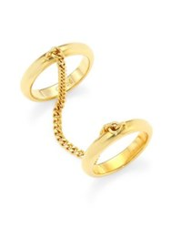 Chloe Carly Chain And Band Double Ring Gold