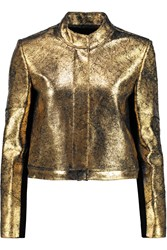Raoul Metallic Textured Leather Jacket