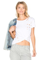 Nytt Distressed Tee White