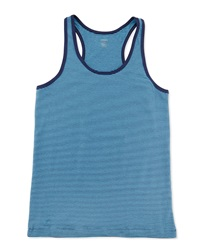 2Xist Racer Back Pinstriped Stretch Knit Tank Lake Blue