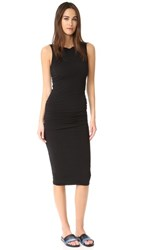 James Perse Open Back Skinny Dress Black