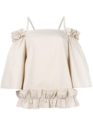 Paskal Ruched Blouse Nude Neutrals