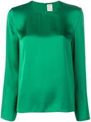 Maison Rabih Kayrouz Sheen Long Sleeve Blouse Green