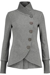 Bailey 44 Britto Ribbed Knit Trimmed Jersey Jacket Gray
