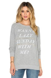 Junk Food Lazy Sunday Sweatshirt Gray