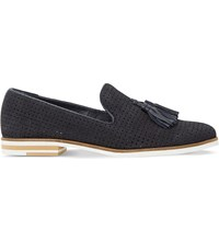 Dune Gale Suede Loafers Navy Suede