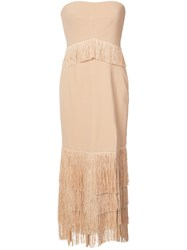 Jonathan Simkhai Lace Strapless Dress Nude Neutrals
