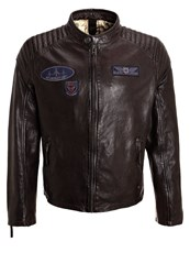 Gipsy Channing Leather Jacket Dark Brown