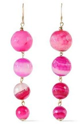 Kenneth Jay Lane Woman Gold Plated Bead Earrings Pink