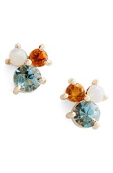 Mociun Women's Aquamarine Citrine And Opal Earrings Nordstrom Exclusive