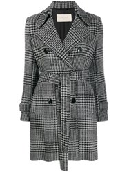 Circolo 1901 Houndstooth Double Breasted Coat 60