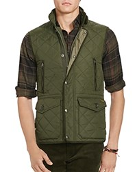 Polo Ralph Lauren Diamond Quilted Vest Corduroy Green