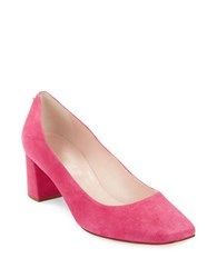 Kate Spade Dolores Square Toe Suede Heels Raspberry