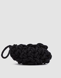 Alienina Woven Clutch In Black